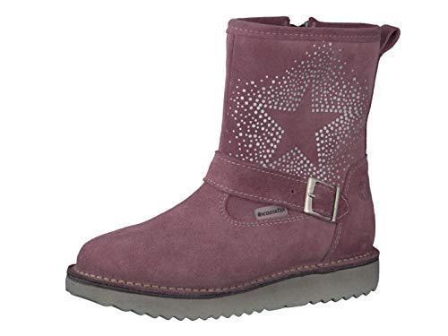 RICOSTA Pepino Mädchen Winterstiefel Cosma, WMS: Mittel, wasserfest, leger Winter-Boots Outdoor-Kinderschuhe gefüttert warm,Sucre,33 EU / 1 UK