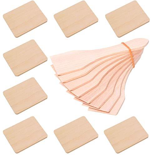 Preisvergleich Produktbild iapyx Raclette Zubehör Spachtel Schaber und Untersetzer Brettchen aus Holz für Raclette Pfännchen (8,  Schieber und Brettchen)