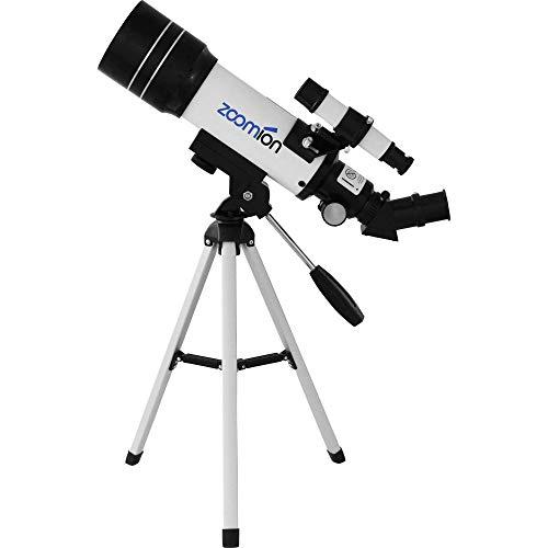 Zoomion Pioneer 70/360 AZ Teleskop Fernrohr Set für Kinder und Erwachsene mit viel Zubehör für die Beobachtung von Mond, Tiere und Landschaften