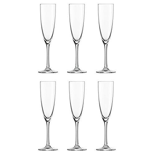 Schott Zwiesel Classico Sektglas/Champagnerglas 6er Set, transparent Tritan® Kristallglas 210ml H 24,2cm Ø 7cm