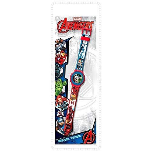 Kids Licensing |Reloj Digital para Niños | Reloj Avengers |Diseño Personajes Disney |Reloj Infantil Resistente | Reloj de Pulsera Ajustable| Bisel Reforzado | Reloj de Aprendizaje | Licencia Oficial