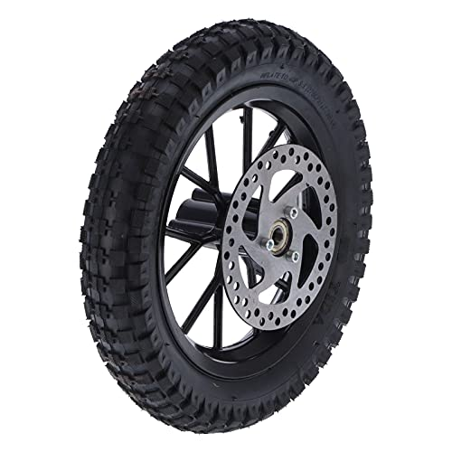 Neumático Delantero para Mini Dirt Bike de 12,5 x 2,75 Pulgadas, neumático Delantero de Goma Espesa para Dirt Bike con Tubo Interior, para Mini Dirt Bike de 47 CC 49 CC de 2 Tiempos(Negro)