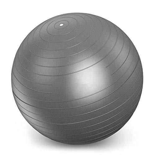 YANGHUI Pelota de ejercicio antiestallido, balones de fisioterapia, bolas suaves, anillo de pilates, gimnasio, fltness parto embarazo, gris, 60 cm