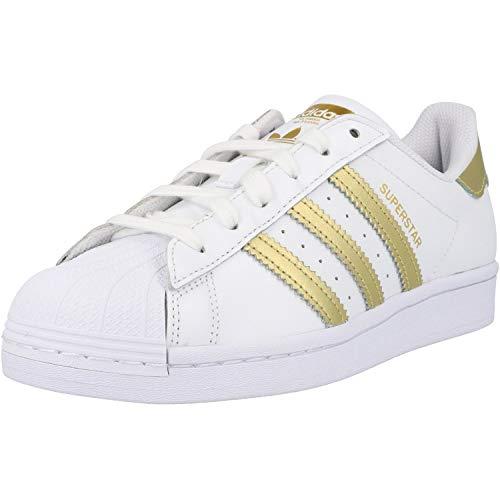 adidas Superstar W, Zapatillas Deportivas Mujer, FTWR White Gold Met FTWR White, 35.5 EU