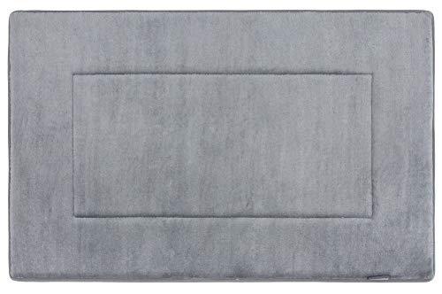 FABBRICA HOME Ultra-Soft Extra-Thick Memory Foam Bath Mat (21 in x 34 in, Slate Grey)