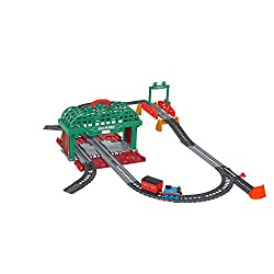 Thomas & Friends TrackMaster train set includes Knapford Station, track, bridge and push-along Thomas train with passenger car Push down on the passenger car to see it fill with travelers An easy-carry handle lets kids bring the playset (and their f...