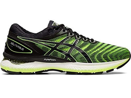 ASICS Men's Gel-Nimbus 22 Running Shoes, 10.5M, Safety Yellow/Black