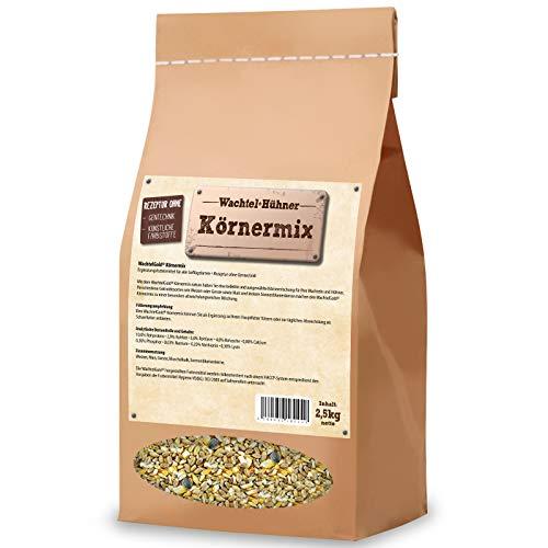 ChickenGold Hühnerfutter - 2,5kg, Körnermix - ohne Gentechnik - Körnerfutter, Weizen, Mais, Sonnenblumenkerne, Gerste, Muschelschrot