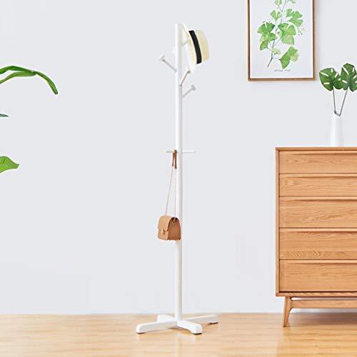 Lfixhssf Kleerhangers van hout, mantel voor slaapkamer, vloer, plank, 1 tas, rack 50 huishoudens × 50 × 178 cm, Lfixhssf Wit