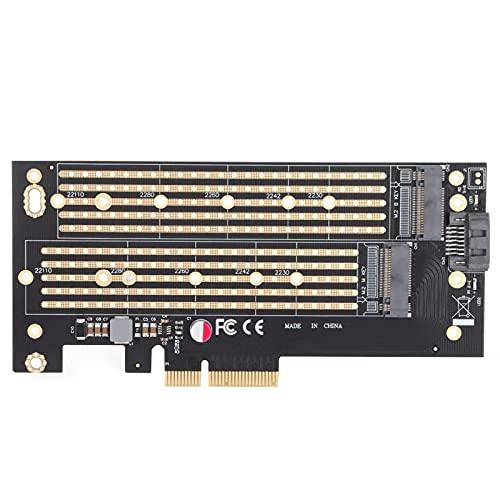 Lazimin Adaptador Pcie de Disco Duro NVME M.2, Adaptador Pcie M.2 SSD Tarjeta de expansión Compatible con SSD 2230, 2242, 2260, 2280 y 22110 M.2