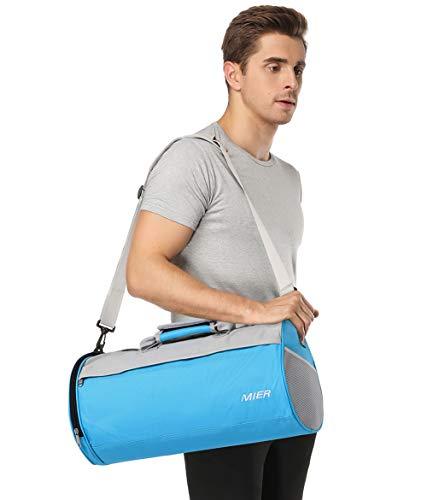 MIER Unisex Palestra Bag Small Sports Borsa con vano Scarpa da Uomo, Donne, Ragazzi, Ragazze, 2 Size