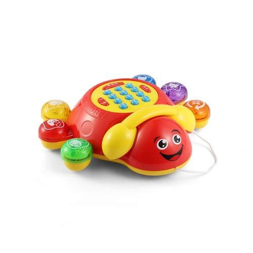 Lihgfw Spielzeug Simulation Telefon Festnetz Baby Baby Baby Mädchen Musik Puzzle Early Education Cartoon Telefon Drag Kleinkind Musik Aufklärung Geschenk für Kinder (Color : Rot)