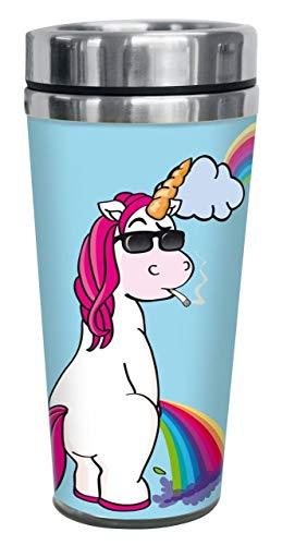 Einhorn Unicorn Cool Unicorn - Rainbow Unisexe Gobelet Isotherme Multicolore, Plastique,