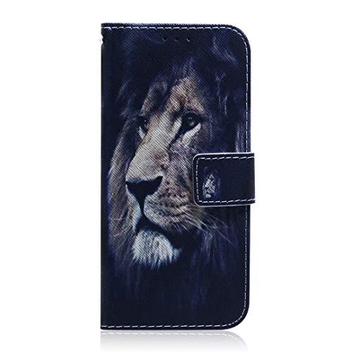 Funda para Nokia G20, Nokia 10 Wallet Book Stand Phone Case PU Cuero a prueba de golpes Flip Cover cierre magnético ID Slots Money Pouch Folio Bumper Skin protector para Nokia G20, Nokia 10 lion