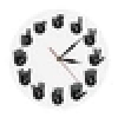 Reloj de Pared Lenguaje de señas Americano Reloj de Pared icónico ASL Gesture Reloj Moderno Reloj Equivalentes de Las Horas Regalos Hechos para sordos-mudos