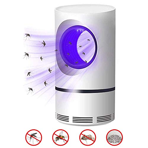 Lámpara Antimosquitos [2019 Newest] USB Mosquito Killer Lamp Mosquito Trap Ahorro de Energía Ultra Silencioso Fotocatalizador Asesino de Mosquitos - Niños Seguros, No Tóxicos, Sin Radiación