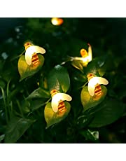 SALCAR 5m 10m Solar LED Bijen lichtketting buiten voor tuin, 30er Solar Cup lichtkettingen decoratieve verlichting voor groene riem, buche, feest - warmwit