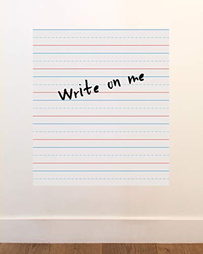 BLIK Writing Paper Dry Erase Removable Wall Decal   Clever Whiteboard Alternative   Easy Peel and Stick Design   Semi-Gloss Dry Erase Finish   20 x 26 Inches