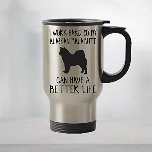 Taza de viaje Alaskan Malamute Alaskan Malamute regalo de perro taza de café regalo divertido perro taza de viaje taza divertida taza de viaje taza de café taza de té regalo de vacaciones