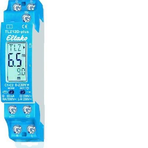 Eltako TLZ12D-plus Digital Einstellbarer Treppenlicht-Zeitschalter, grau, 10x2x5 cm