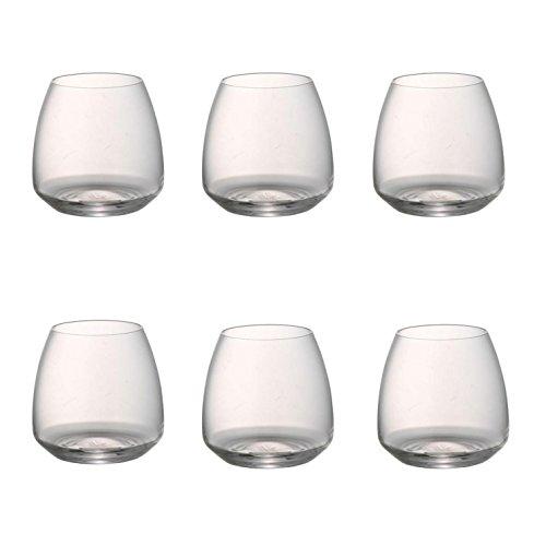 Rosenthal Tac - Set di 6 bicchieri da whisky in vetro trasparente, altezza: 10 cm