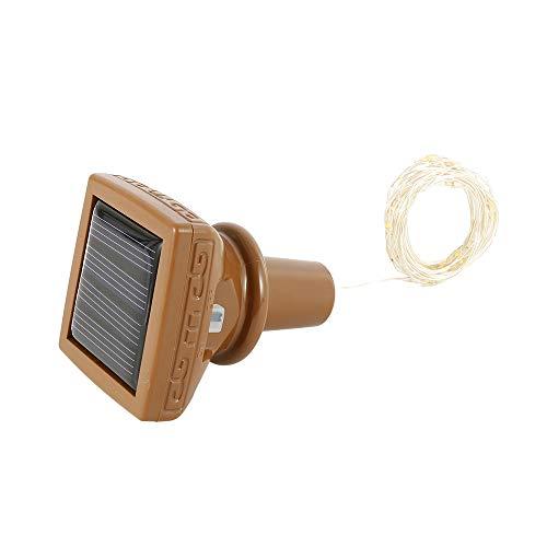 2/4/6 PCS 2M Solar Cork Wine Bottle Square Stopper Copper Wire String Lights Fairy Lamps LED Light (4 PCS)