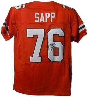 Warren Sapp Autographed Signed Miami Hurricanes Size XL Orange Jersey - JSA Certified