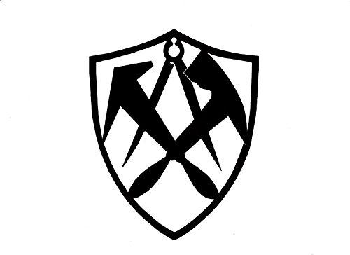 Metall-Design-Dithmarschen Dachdecker in Wappenform - Innungsschild, Zunftzeichen 40-90cm (50cm)