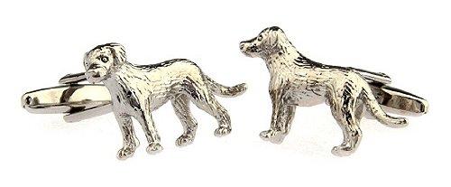 Gemelolandia Boutons de manchette en forme de chien de chasse Inox