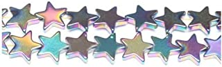 Strand 38+ Rainbow Hematite (Non Magnetic) 10mm Flat Star Beads GS9611 (Charming Beads)