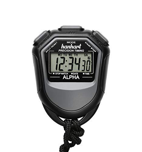 Hanhart Alpha elektronische Stoppuhr Sportuhr Uhr, Timer, Digitale Sportuhr für Sport und Freizeit