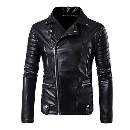 Blouson Cuir Noir Homme,Blouson Homme Moto Cuir,Manteau Homme Long Capuche,Blouson Homme Moto Cuir,Veste Homme Automne,Noir,XXXL