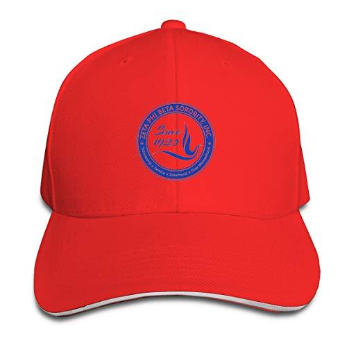 N/A Zeta Phi Beta - Gorra de béisbol unisex (poliéster) rojo Talla única