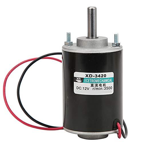 XD-3420 30W motor eléctrico de corriente continua,Motor de alta velocidad CW/CCW,Alta velocidad de 3500/7000 rpm,1.02 pulgadas,Utilizado en banco de corte pequeño, máquina de esmerilado(12V)