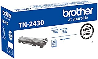 Brother Genuine TN2430 Printer Toner Cartridge, Black, Page Yield Up to 1200 Pages, (TN-2430)
