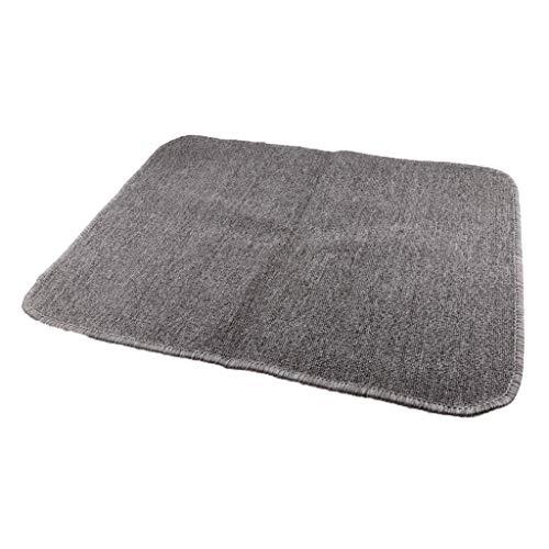 B Blesiya Alfombra infantil Montessori, alfombra de suelo, alfombra de juegos para niños y bebés, 80 x 60 cm, color gris