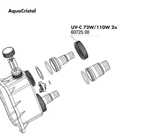JBL UV-C Überwurfmutter (2x)