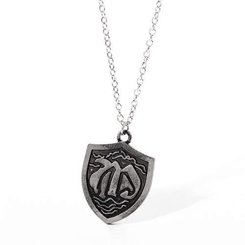 Anime los siete pecados capitales escudo collares colgante collar para hombres gargantilla accesorios de joyería