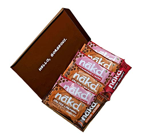 Nakd Nibbles & Bars Variety Pack, 8 Count (Salted Caramel, Strawberry Cream, Berry, Cocoa Orange)