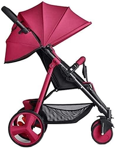 Cochecito de bebé liviano Pastel de viaje compacto portátil, cochecito de bebé liviano con bolsa de transporte de estilo mochila, perfecto para viajes, altos paisajes y cochecitos fashionales