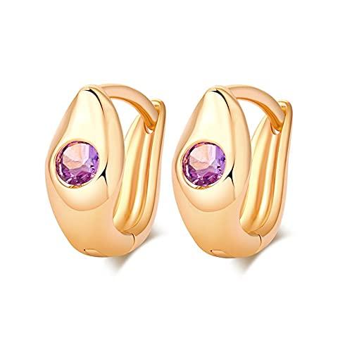 Fancysvccy Pendientes de Moda Pendientes de circonita para Mujeres niñas Cristales Pendientes de botón Joyería Los Mejores Regalos para Damas