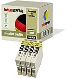 4 XL TONER EXPERTE® T0441 Druckerpatronen kompatibel für Epson Stylus C64, C66, C68, C84, C86, CX3600, CX3650, CX4600, CX6400, CX6600 (4 Schwarz)