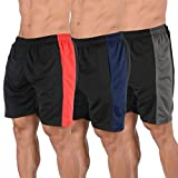 YoungLA Mens Shorts Pack of 3 Athletic Basketball Gym Workout Running 116#4 L