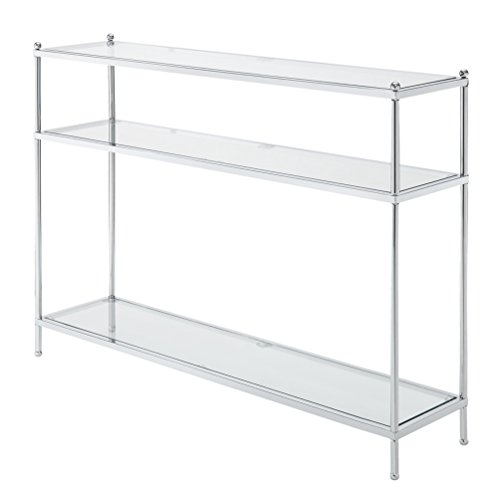 Convenience Concepts Royal Crest Console Table, Chrome / Glass