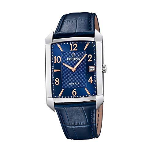 Festina Herren Analog Quarz Uhr mit Leder Armband F20464/2
