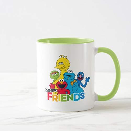 CiCiDi Sesamstraße   Sesamfreunde zweifarbige Kaffeetasse, Geschenke für Männer und Frauen, Keramik-Tasse, 325 ml