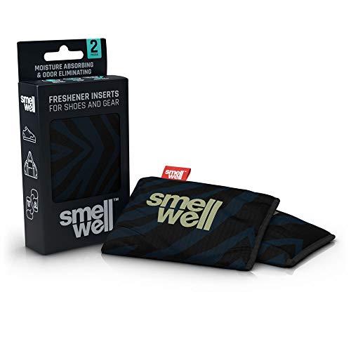SmellWell Trocknungs- und Erfrischungskissen für Schuhe, Sporttaschen oder sogar das Auto - versetzt mit einem frischen Duft (Black Zebra)