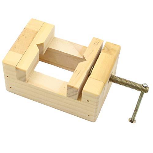 GOMYIE DIY Holzbearbeitungswerkzeug Mini Flachzange Schraubstock Clamp Tisch Bank Schraubstock Dichtung Handwerkzeuge Für Holzbearbeitung Carving Gravur (Holz Farbe S)