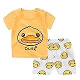 FRAUIT T-Shirt + Pantaloncini per Bambini Set di Abbigliamento per Neonato Abbigliamento Neonata Manica Corta Bambini Pantaloncini Casual Set da Salotto Estivo Taglie per 0-3 Anni
