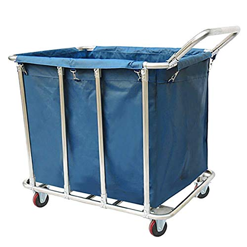 Wasserij sorteren car Laundry Sorter winkelwagen Home 1 met hengsel, Commercial Thuis Laundry Room kleding opslag belemmert met Rolling Wheels Dienst rolwagen (Color : Blue, Size : 8 Tube)